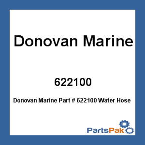 Donovan Marine 622100 Water Hose For Bravo