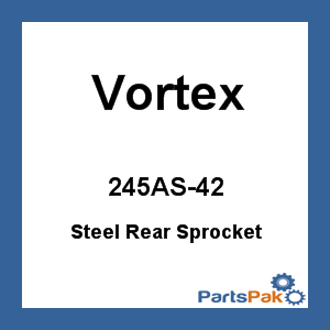 Vortex 245AS-42; Steel Rear Sprocket