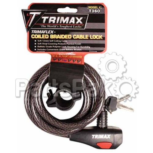 Trimax TKC126 6 ftHigh Security Cable Lock
