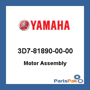 Yamaha 3D7-81890-00-00 Motor Assembly; 3D7818900000 at Sears.com