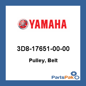 Yamaha 3D8-17651-00-00 Pulley, Belt; 3D8176510000