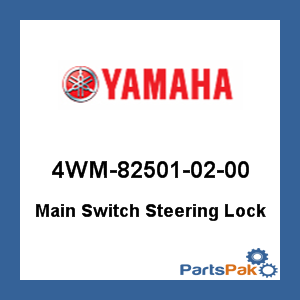 Yamaha 4WM-82501-02-00 Main Switch Steering Lock; 4WM825010200