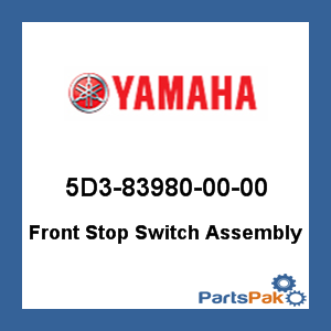 New Yamaha OEM 5D3-83980-00-00 FRONT STOP SWITCH A 5D3839800000