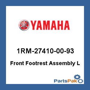 Yamaha New OEM 1RM-27410-00-93 FRT FOOTREST ASY L 1RM274100093
