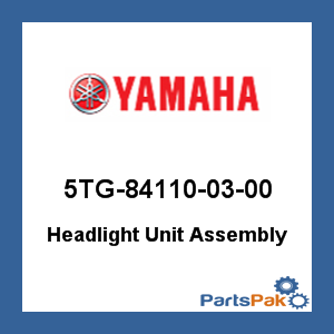 Yamaha 5TG841100300 Headlight Unit Assembly