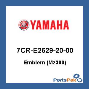 Yamaha 7CR-E2629-20-00 Emblem (Mz300)