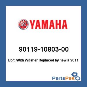 Yamaha 90119-10813-00 BOLT  WITH WASHER