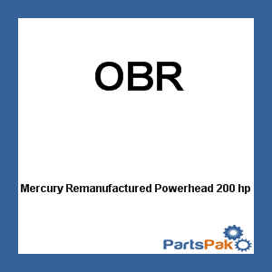 Mercury Remanufactured Powerhead 200 hp 2000-2005/ 200 EFI 2000-2001 2.5 Lit for Outboard