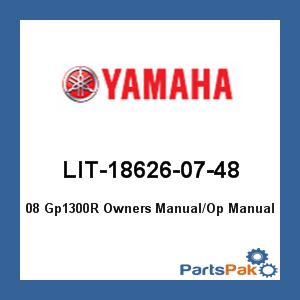 yamaha lit 18626 07 48 08 gp1300r owners manual op manual lit186260748 rh partspak com yamaha gp1300r service manual yamaha waverunner gp1300r service manual