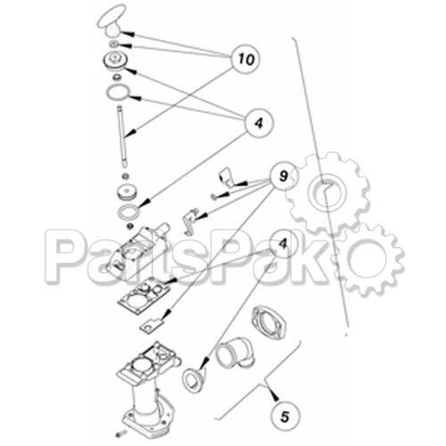 johnson pump 814723901  manual toilet pump assembly only