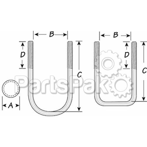 tie down engineering 86227  u 8x1 5  8x3 9  16