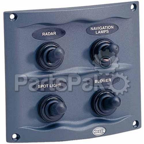 hella marine h73070031 switch panel 4 gang grey. Black Bedroom Furniture Sets. Home Design Ideas