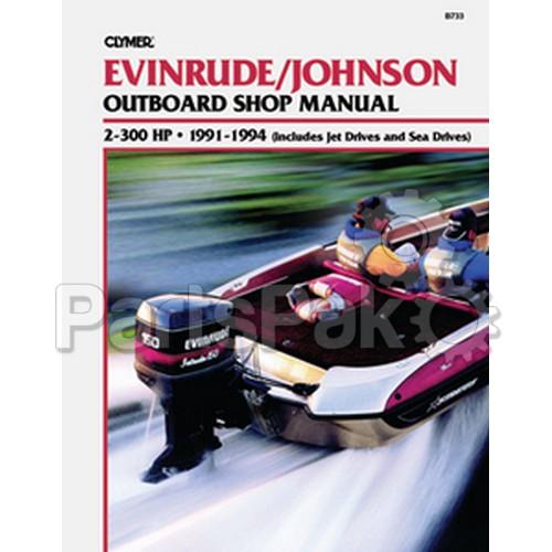 clymer manuals b732 johnson evinrude 2 40hp outboard 1973. Black Bedroom Furniture Sets. Home Design Ideas