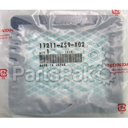 Honda 17211-ZS9-A02 Element, Air Cleaner; 17211ZS9A02