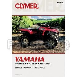 Clymer Manuals M490-3; M490 Yamaha YFM350/400 Er/Fw 1987-2004 Clymer Repair Manual