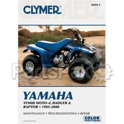 Clymer Manuals M499-2; M499 Yamaha YFM80/Badger 1985-2001 Clymer Rep Manual