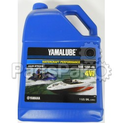 Yamaha LUB-10W40-WV-04 Yamalube 10W-40 4W Watercraft Waverunner Oil Gallon (Individual Bottle); LUB10W40WV04