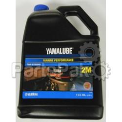 Yamaha ACC-Y2MTC-W3-04 Yamalube 2M Marine 2-Stroke Oil NMMA TC-W3 Gallon; New # LUB-2STRK-M1-04