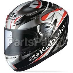 Kabuto Ff-5V Viento Black/Silver/Red L; Ff-5V Viento Helmet Black/Silver/Red L
