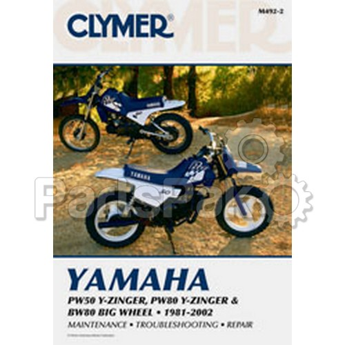 Clymer Manuals M4922; Yamaha Pw50/80 Motorcycle Repair Service Manual