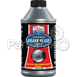 Lucas 10827; Synthetic Brake Fluid Dot 4 12Oz