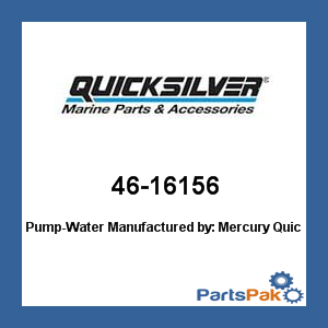 New Mercury Mercruiser Quicksilver Oem Part # 46-16156 Pump-Water