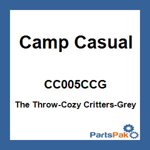 Camp Casual CC005CCG; The Throw-Cozy Critters-Grey