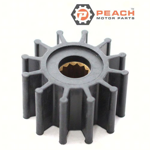Peach Motor Parts PM-09-1027B-1 Impeller, Water Pump (Neoprene); Replaces Jabsco®: 1210-0001, 30410-9001, 3085-0001, Johnson Pump®: 09-1027B-1, 09-1027B, Perkins®: 0460038, OMC®: 3858256, Volvo