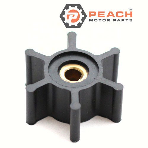 Peach Motor Parts PM-09-824P-9 Impeller, Pump (Nitrile); Replaces Jabsco®: 6303-0003, Johnson Pump®: 09-824P-9, Oberdorfer®: 7885, CEF®: 500210, Ancor®: J050011