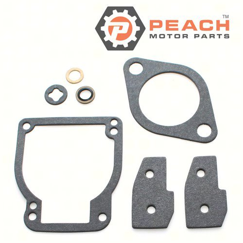 Peach Motor Parts PM-1395-811223-1 Carburetor Repair Kit (For single carburetor); Replaces Mercury Marine®: 1395-811223 1, 1395-8112231, 1395-811223, 1395-9602, Sierra®: 18-7211-1, GLM®: 40490