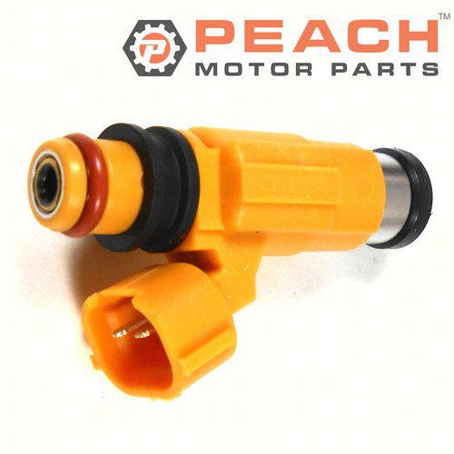 Peach Motor Parts PM-63P-13761-01-00 Fuel Injector Assembly; Replaces Yamaha®: 63P-13761-01-00, 63P-13761-00-00, 5FL-13761-00-00, 5JW-13761-10-00, 7320450, 1521430, Mitsubishi®: MD319792, Bosch