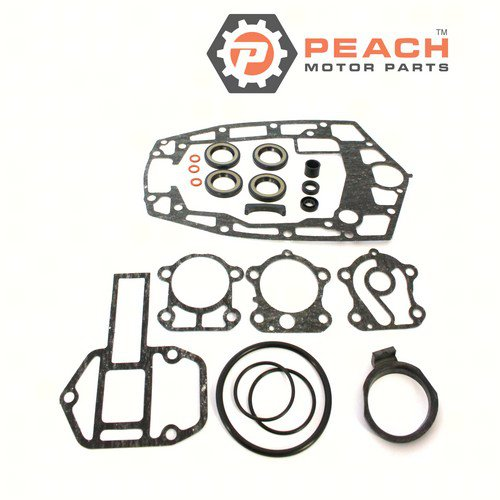 Peach Motor Parts PM-688-W0001-22-00 Lower Unit Gasket Kit; Replaces Yamaha®: 688-W0001-22-00, 688-W0001-21-00, Sierra®: 18-0021
