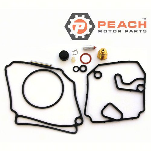 Peach Motor Parts PM-6H1-W0093-10-00 Carburetor Repair Kit (For 1 carburetor); Replaces Yamaha®: 6H1-W0093-10-00, WSM®: 600-55