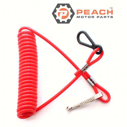 Peach Motor Parts PM-8M0092850 Lanyard, Stop Switch; Replaces Mercury Marine®: 8M0092850, 15920Q54, 15920A54
