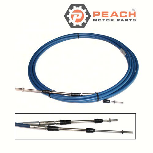 Peach Motor Parts PM-MAR-CABLE-17-SC Throttle Shift Cable, Remote Control 17 Ft; Replaces Yamaha®: MAR-CABLE-17-SC, 701-48320-80-00, ABA-CABLE-17-00, ABA-CABLE-17-GY, MAR-CABLE-17-GY, Teleflex®