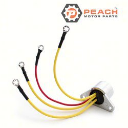 Peach Motor Parts PM-0173692 Rectifier; Replaces Johnson Evinrude OMC®: 0173692, 173692, 0581778, 581778, 0582304, 582304, Sierra®: 18-5709, Arco®: AR104, CDI®: 153-1778, GLM®: 72350, Mallory®:
