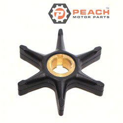 Peach Motor Parts PM-0375638 Impeller, Water Pump; Replaces Johnson® Evinrude® OMC®: 0375638, 375638, 0775518, 775518, Sierra®: 18-3002, Mallory®: 9-45215, GLM®: 89650