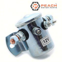 Peach Motor Parts PM-0378444 Solenoid, Starter; Replaces Johnson Evinrude OMC®: 0378444, 378444, 0277628, 277628, Prestolite®: SAW4205, SAW4206, Sierra®: 18-5807, GLM®: 72420, Mallory®: 9-15109