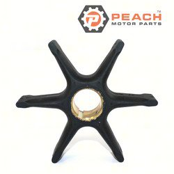 Peach Motor Parts PM-0379475 Impeller, Water Pump; Replaces Johnson® Evinrude® OMC®: 0379475, 379475, 0777130, 777130, Mallory®: 9-45281, GLM®: 89760, Pro Marine: 83475, Sierra®: 18-3086, CEF®: