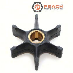 Peach Motor Parts PM-0382547 Impeller, Water Pump; Replaces Johnson Evinrude OMC®: 0382547, 382547, 0765431, 765431, Sierra®: 18-3082, GLM®: 89940, Mallory®: 9-45213, CEF®: 500307; PM-0382547