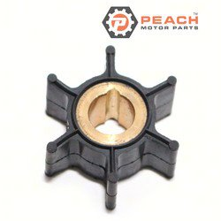 Peach Motor Parts PM-0389576 Impeller, Water Pump; Replaces Johnson® Evinrude® OMC®: 0389576, 389576, Sierra®: 18-3091, Mallory®: 9-45205, 9-45214, GLM®: 89500