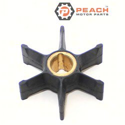 Peach Motor Parts PM-0389589 Impeller, Water Pump; Replaces Johnson Evinrude OMC®: 0389589, 389589, 0777129, 777129, Sierra®: 18-3055, GLM®: 89690, Mallory®: 9-45202, CEF®: 500345, WSM®: 700-30