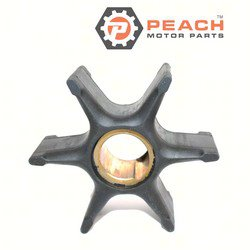 Peach Motor Parts PM-0395864 Impeller, Water Pump; Replaces Johnson® Evinrude® OMC®: 0395864, 395864, 0397131, 397131, 0435821, 435821, Mallory®: 9-45206, Sierra®: 18-3059