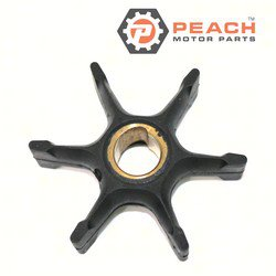 Peach Motor Parts PM-0396725 Impeller, Water Pump; Replaces Johnson® Evinrude® OMC®: 0396725, 396725, 0432594, 432594, 0437080, 437080, Sierra®: 18-3053, 18-3053-1