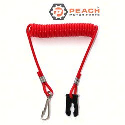 Peach Motor Parts PM-0398602 Safety Lanyard & Clip; Replaces Johnson Evinrude OMC®: 0398602, 398602, Sierra®: 18-1282