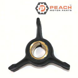 Peach Motor Parts PM-0432941 Impeller, Water Pump; Replaces Johnson® Evinrude® OMC®: 0432941, 432941, 0437059, 437059, 0765350, 765350, Sierra®: 18-3104, 18-3104-1, Mallory®: 9-45211, 9-45204,