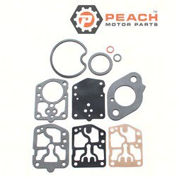 Peach Motor Parts PM-1395-9024 Carburetor Repair Kit (For single carburetor); Replaces Mercury Marine®: 1395-9024, Sierra®: 18-7215, GLM®: 40640; PM-1395-9024