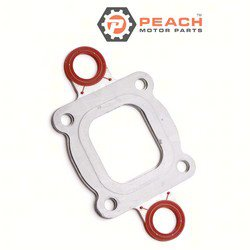 Peach Motor Parts PM-27-864547A02 Gasket, Exhaust Riser (Full Flow); Replaces Mercury Marine® Mercuiser®: 27-864547A02, 27-864547A 1, 27-864547A1, Sierra®: 18-0721