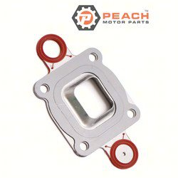 Peach Motor Parts PM-27-864850A02 Gasket, Exhaust Riser Elbow (Restricted); Replaces Mercury Marine® Mercuiser®: 27-864850A02, 27-864850A 1, 27-864850A1, Sierra®: 18-0722
