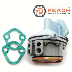 Peach Motor Parts PM-3855276 Fuel Pump, Mechanical; Replaces OMC®: 3855276, 3853792, 0981650, 981650, Volvo Penta®: 3855276, Sierra®: 18-7268, GLM®: 77102, Mallory®: 9-35412, WSM®: 600-165, Car